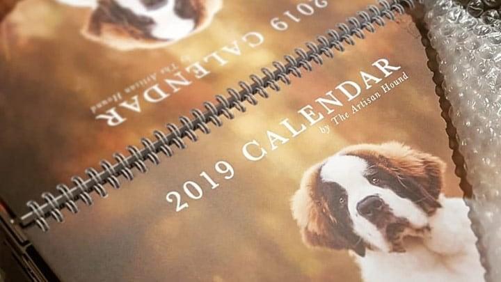 charity dog photography calendar
