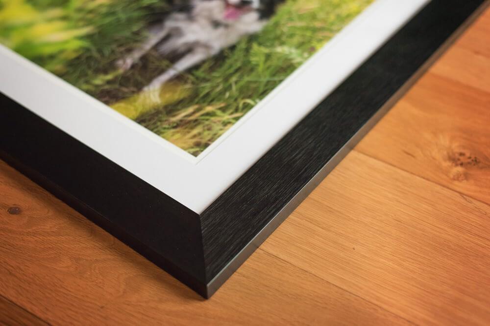 Satin black wooden photo frame